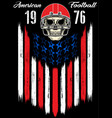 skull in a helmet to play american football vector image