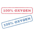 100 percent oxygen textile stamps vector image vector image