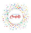 abstract colorful confetti frame background vector image