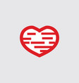 abstract red heart love icon logo valentines day vector image vector image