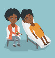 african psychologist having session with a patient vector image vector image