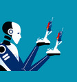 artificial intelligence helping business team vector image vector image