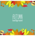 Autumn background for invitation or ad template vector image vector image