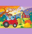 autumn farm theme 5 vector image vector image