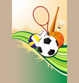 ball sports background vector image