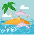 believe in magic vector image