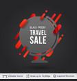 black friday travel sale offer vector image
