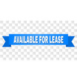 blue tape with available for lease text vector image