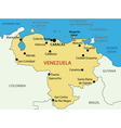 Bolivarian Republic of Venezuela - map vector image vector image