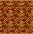 brown seamless diagonal shape mosaic tile pattern vector image vector image