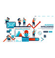 business intelligence or bi to analyze need vector image vector image
