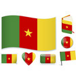 cameroon flag in seven shapes editable and vector image vector image
