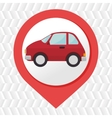 car pin location icon vector image