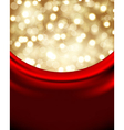 christmas background with red silk vector image vector image