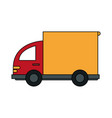 color image cartoon small transport truck with vector image vector image
