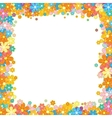 Colorful Floral Frame Flower Garland on White vector image vector image