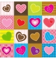 Colorful patchwork with hearts vector | Price: 1 Credit (USD $1)
