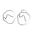 cute couple faces vector image vector image