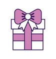 cute purple gift cartoon vector image vector image