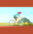 cycle tourist sportsman composition vector image
