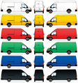 delivery vans set vector image