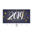 design of happy new year poster with calligraphy vector image vector image
