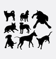 Dog pet animal silhouette 04 vector image