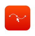 drawing the curve icon digital red vector image