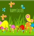 easter eggs painted background with spring vector image vector image