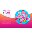 fashion web store banner vector image