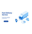 fast delivery lp template 2 vector image