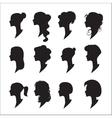 female profiles vector image