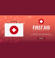 first aid medical background health care vector image