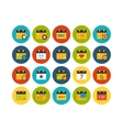 Flat icons set 16 vector image