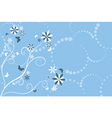flowers and butterflies vector image