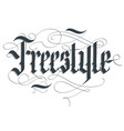 freestyle lettering typography emblem extreme vector image vector image
