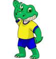 funny baby crocodile vector image vector image