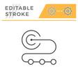 goal editable stroke line icon vector image vector image