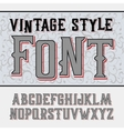 handy crafted vintage label font vector image vector image