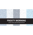 heart pattern set frosty morning seamless vector image vector image