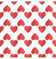 hearts flat seamless pattern vector image