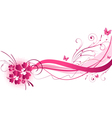 hibiscus pink wave vector image vector image