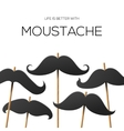 Hipster Party design template with mustache vector image vector image