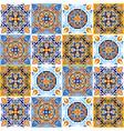 italian ceramic tile pattern mediterranean vector image