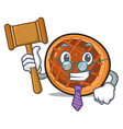 judge baket pie mascot cartoon vector image vector image