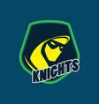 knight logo image vector image vector image
