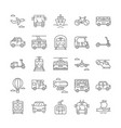 large set black and white line drawn public vector image vector image