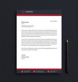 letterhead design template with standard sizes vector image vector image
