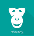 monkey year 2016 silhouette vector image