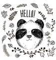 panda animal drawing card vector image